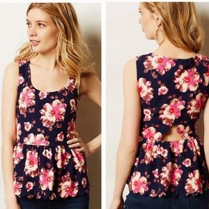 POSTMARK Anthropologie Clovelly Peplum Top XS